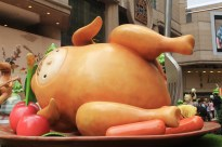 Child's head in a turkey...