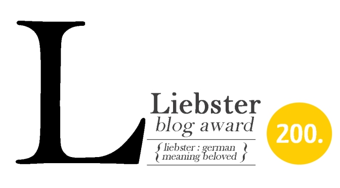 Liebster Award; Please Queue For Autographs