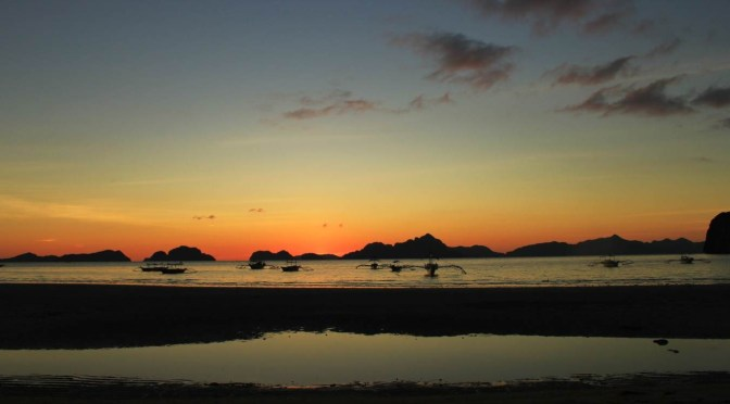The Sunset On Corong Corong Beach, El Nido